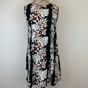 Hinalea Hawaiian Print Fitted Cotton Dress Sz L